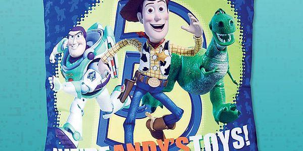 JERRY FABRICS Pestrý polštářek s motivy oblíbeného animovaného filmu Toy Story 40x40