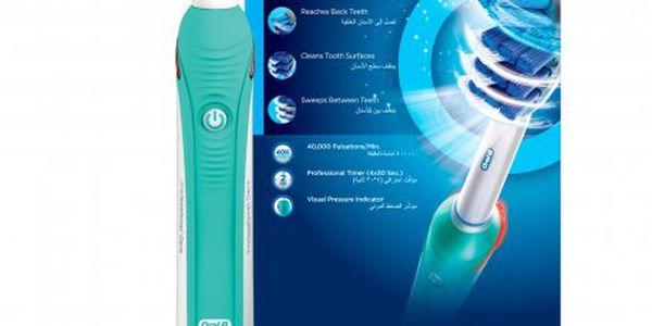 Profesionální kartáček Oral-B Professional Care 1000 TriZone D20.523 odstraňuje až o 100% více plaku než manuální kartáček