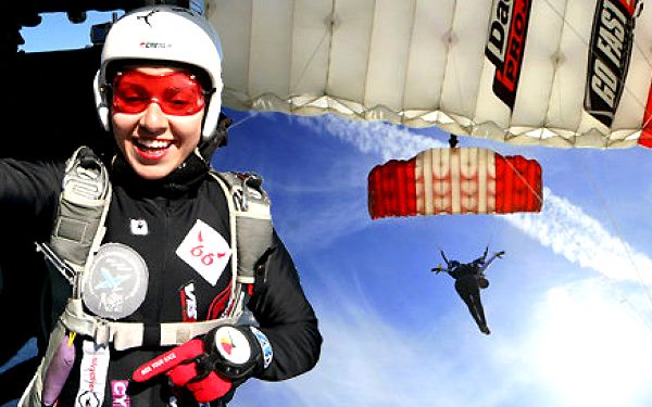 Parašutistický výcvik včetně seskoku z letadla