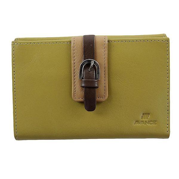 Dámská kožená peněženka v zeleném provedení Menbur