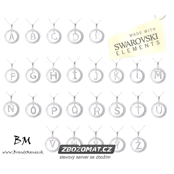 Řetízek s přívěskem Swarovski Elements Alphabet - darujte symbolický šperk!