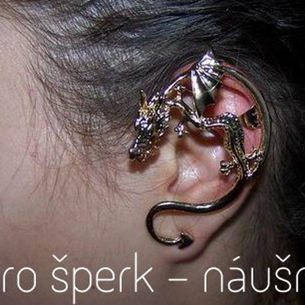 Unikátní náušnice, které se obtáčí okolo ušního lalůčku a prochází skrze něj. Originální retro šperk. Vybírat si můžete náušnice ve tvaru draka, hada či ornamentu