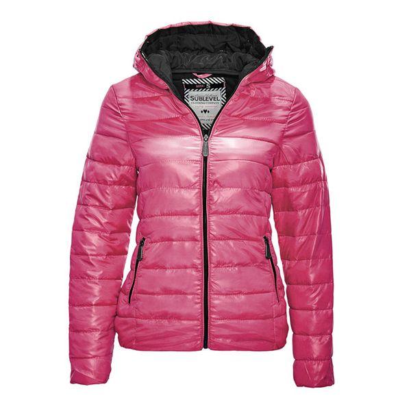 Dámská bunda Sublevel růžovo-černá