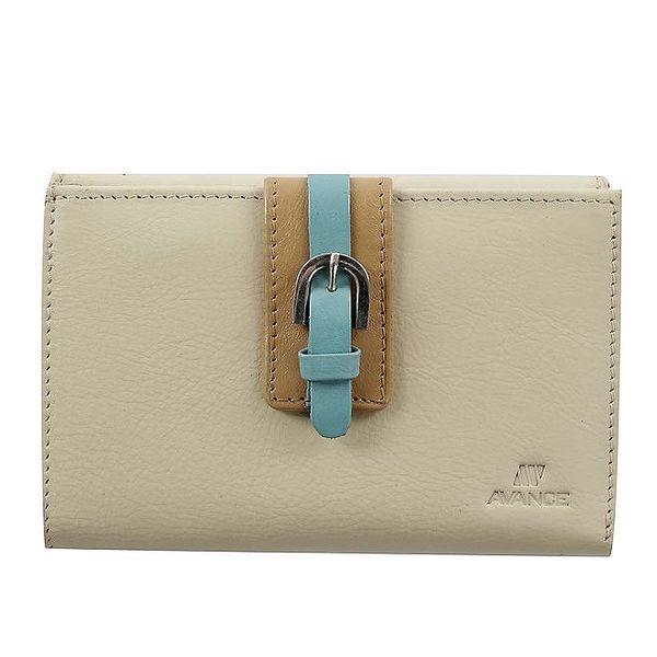 Dámská kožená peněženka v barvě camel Menbur