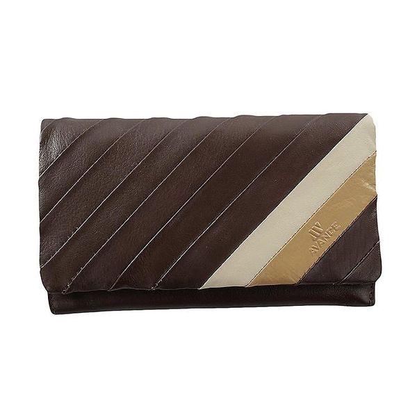Dámská kožená hnědá peněženka Menbur