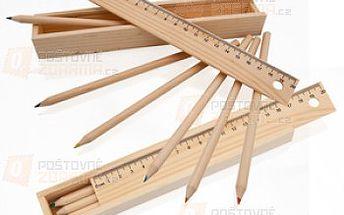 Sada 6 pastelek v dřevěné krabičce s pravítkem a poštovné ZDARMA s dodáním do 3 dnů! - 19106708