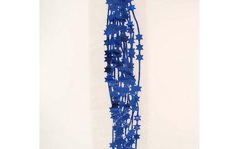 Lameta lesklá s hvězdami, modrá, 200 cm, sada 4 ks, HTH