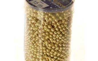 Řetízek korálky, zlatá, HTH