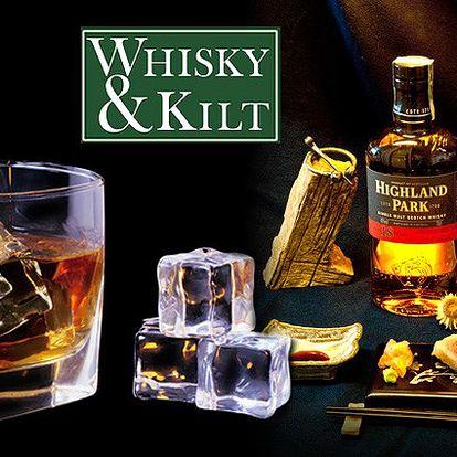 Degustace pro začátečníky nebo Whisky a Sushi v originálním klubu Whisky&Kilt