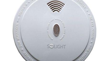 Solight detektor spalin CO, 85dB, bílý - elektrochemický senzor oxidu uhelnatého