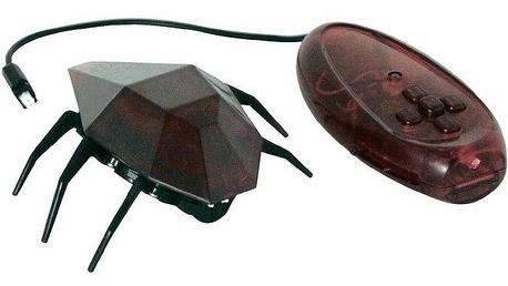 Desk Pets Skitterbot DP-SB-1831, červená - rychlý šestinohý robot