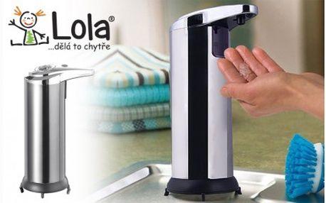 Praktický pomocník do vaší domácnosti z nerezové oceli - bezdotekový dávkovač mýdla! Již není potřeba na mýdlo nebo dávkovač sahat a tím se zbavíte všech bakterií a zárodků plísní.