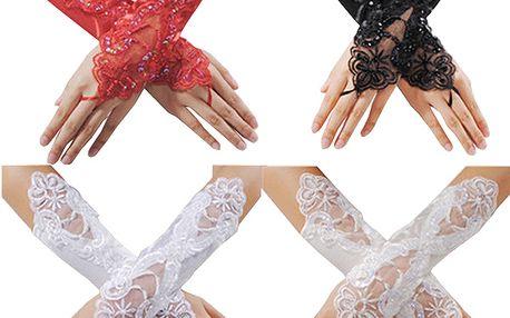 Saténovo-krajkové plesové rukavičky ve 4 barvách a poštovné ZDARMA! - 36102529