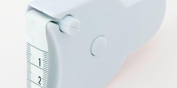 Bílý svinovací metr - vhodný pro měření tělesných rozměrů a poštovné ZDARMA s dodáním do 3 dnů! - 2806693