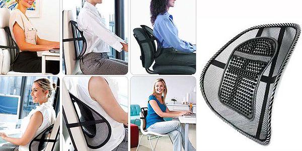 Ergonomická podložka pod záda na židli