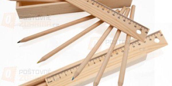 Sada 6 pastelek v dřevěné krabičce s pravítkem a poštovné ZDARMA s dodáním do 3 dnů! - 17406708