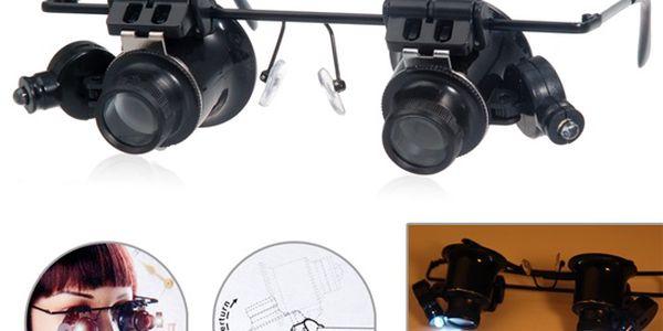 Zvětšovací brýle s 20x přiblížením a poštovné ZDARMA! - 906658