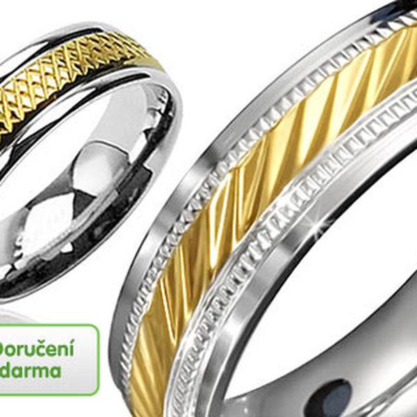 Gravírované prsteny z chirurgické oceli