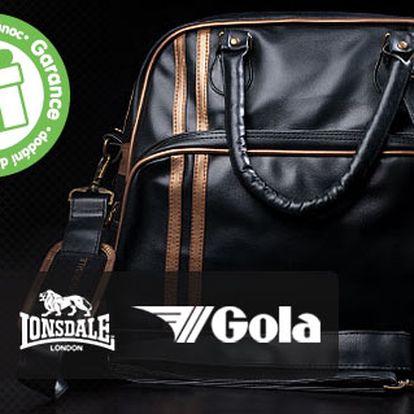 Designové tašky Lonsdale, Dunlop a Gola