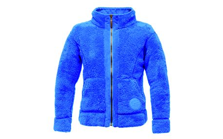 Modrá chlupatá mikina na zip Regatta