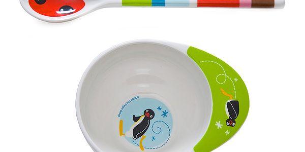 Dětský jídelní set PINGU - 2ks