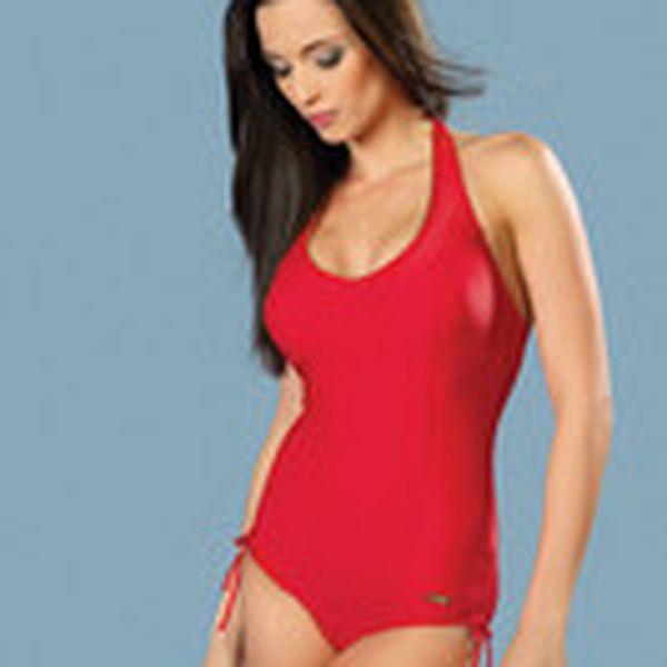 Pohodlné jednodílné plavky Susana červené Winner