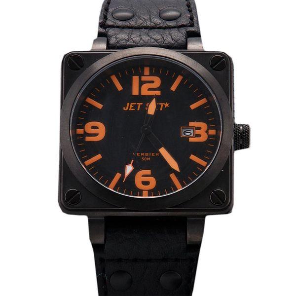 Pánské hodinky Jet Set černo-oranžové