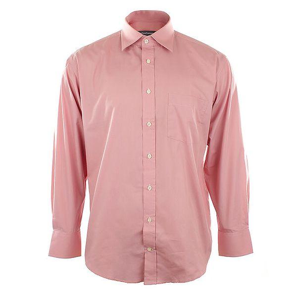 Pánská růžová košile se špičatým límečkem Perry Ellis