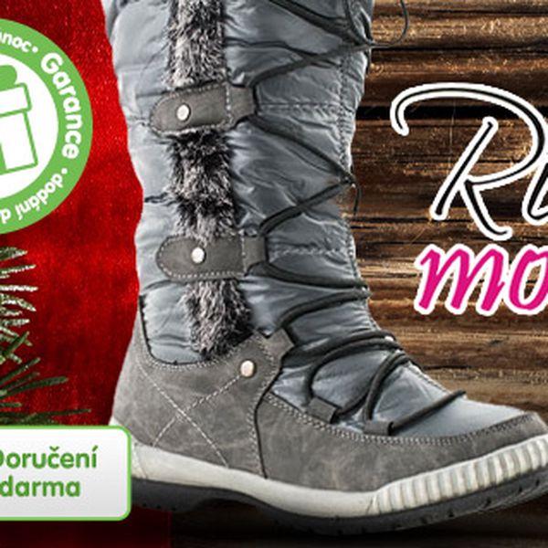 Lesklé zimní boty Rio Moda s dárkem