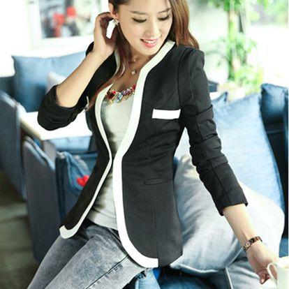 Dámské sako s výrazným lemem Zanzea® - 2 barvy a poštovné ZDARMA! - 36406728