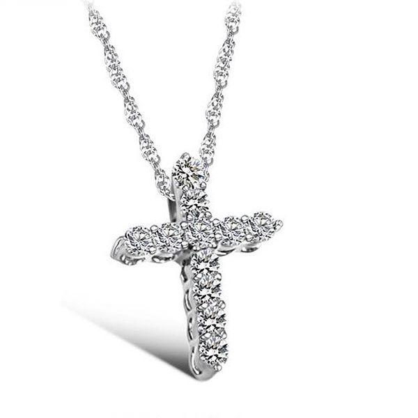 Zářivý náhrdelník s přívěskem ve tvaru kříže a poštovné ZDARMA! - 36406733