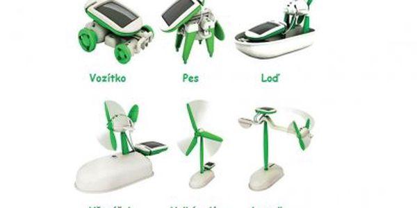 Ukažte svým dětem význam solární energie! S touto hračkou Solar Bot 6v1 je to tak snadné! za skvělých 199 Kč!