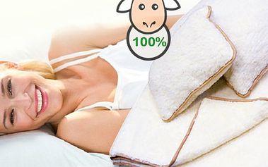 Deka a 2 polštáře z ovčí vlny. Přírodní materiál zaručí zdravý a dokonalý spánek! Antialergický, je vhodný pro alergiky a navíc krásně hřeje! Kupujte chytře, kupujte dopředu!