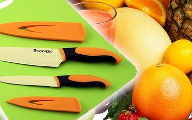 Sada speciálních teflonových nožů Verona Bukanero, Německý Certifikát kvalitu TUV zaručuje jejich kvalitu! Krájí maso, sýry, zeleninu a další suroviny bez nutnosti ztráty vitamínů!