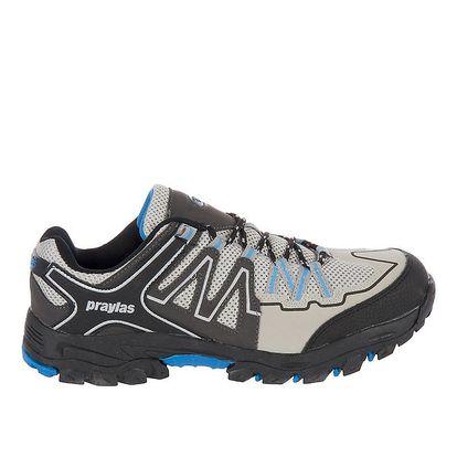 Pánská outdoorová obuv v odstínech šedé barvy Praylas