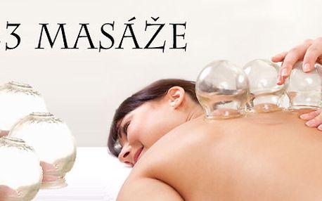 Baňkování zad a šíje s masáží - odstraňte bolesti páteře, stres, napětí nebo migrénu