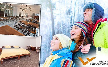 3denní relax v hotelu Lázeňský vrch*** v Krušných horách pro dva s lyžováním