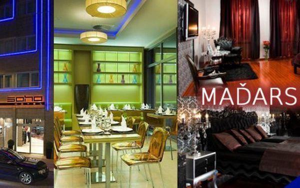 Prožijte se svou polovičkou krásné chvíle a užijte si jeden druhého!Luxusní pobyt v centru Budapešti! 4 dny v designovém hotelu SOHO Boutique Hotel**** pro 2 osoby se snídaní, welcome drinky a slevami na turistické zajímavosti v Budapešti.