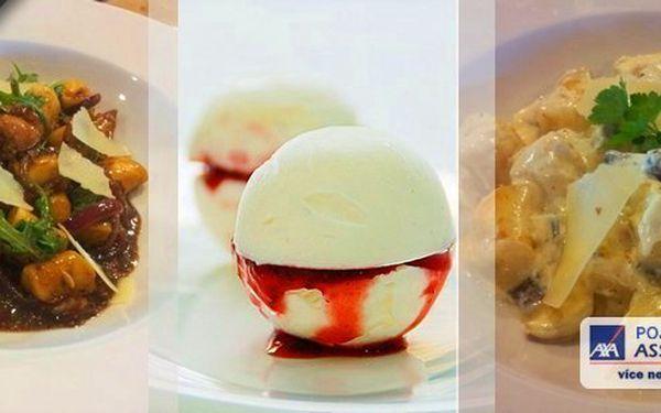 Přijďte kterýkoliv den v týdnu na skvělou akci v Original Cappuccini Restaturantu Praha Kolovraty!! Vyberte si jednu ze dvou nabídek bramborových nočků, buď s vepřovou panenkou, nebo houbovým ragú. A na závěr, určitě potěší sladká tečka.