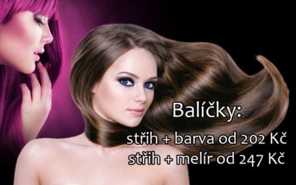 KADEŘNICKÉ BALÍČKY za nejnižší ceny v Praze! Střih od 112 Kč, barva+střih od 202 Kč nebo melír+střih od 247 Kč! Ideální čas na nový účes od profesionálů z Pink Lady Salonu na Praze 4!