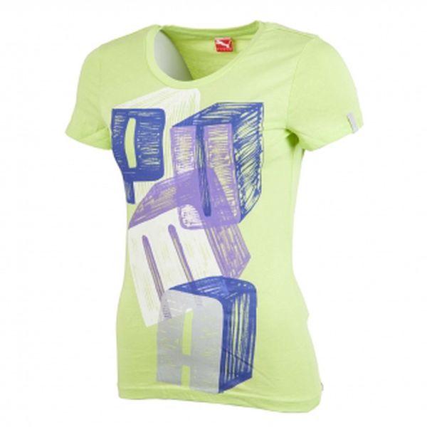 Dámské triko puma coloring letter tee zelená