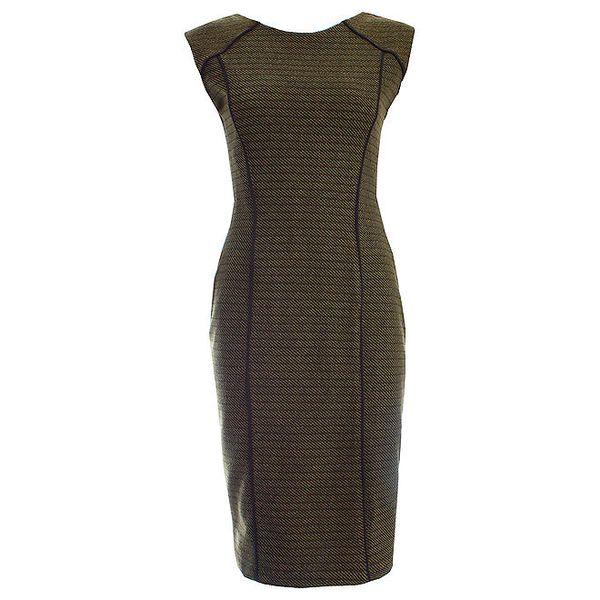 Dámské khaki šaty JDC London pouzdrového střihu