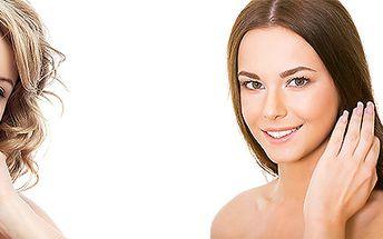 Kompletní kosmetické ošetření pleti včetně denního líčení nebo barvení obočí a řas