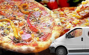 2 pizzy s rozvozem po celém Brně
