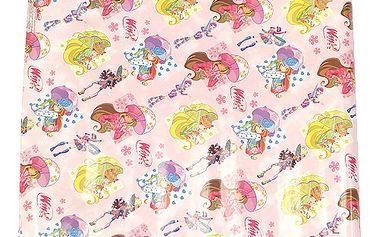 Nádherný balicí papír s motivem kouzelných víl z kolekce Winx Club, barva růžová.