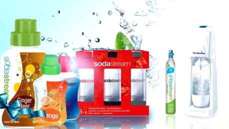 Revoluční přístroj pro přípravu domácí sodovky v balení Soda stream MegaPack! Přístroj SodaStream Cool White, balení 4 SodaStream lahví a 3 sirupy v různých příchutích jen za 1499 Kč! DOPRAVA ZDARMA! Sleva 40%!