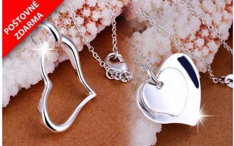 Důkazem lásky je srdce, darujte k Vánocům své milované nádherný stříbrný náhrdelník! Originální, luxusní řetízek s přívěskem ve tvaru srdce. Na výběr ze dvou variant. Dopravné je již zahrnuto v ceně!