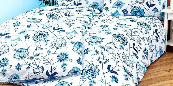Bavlněné povlečení Wendy, 140 x 220 cm, 70 x 90 cm s romantickým vzorem květin