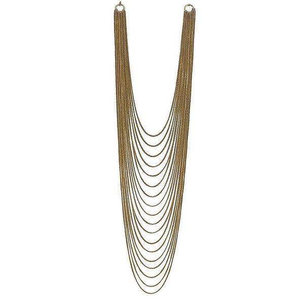 Dámský mnohařadý zlatě tónovaný náhrdelník Esprit