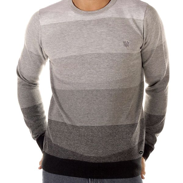 Pánský šedý svetr s pruhy Bendorff